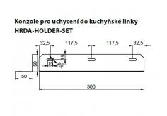 [konzola pre uchytenie do kuchynskej linky pre veľkosť HRDA1-015 a HRDA1-030]